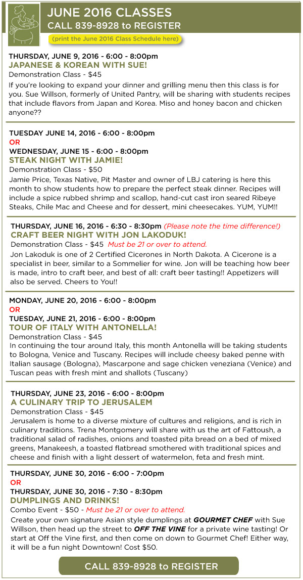 June Classes