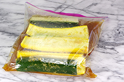 Squash in Marinade Bag