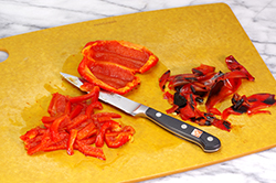 Cutting Red Pepper