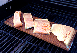 Salmon Plank on Grill