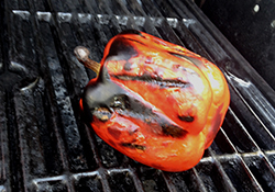 Roasted Pepper on Grill