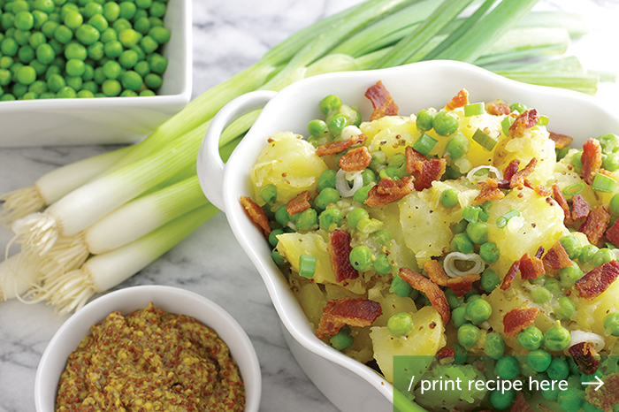 Bacon, Scallion, Potato & Pea Salad