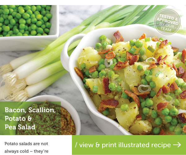 RECIPE: Bacon, Scallion, Potato and Pea Salad