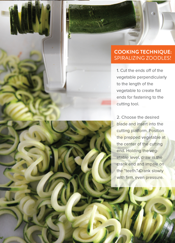 Cooking Technique: Spiralizing Zoodles
