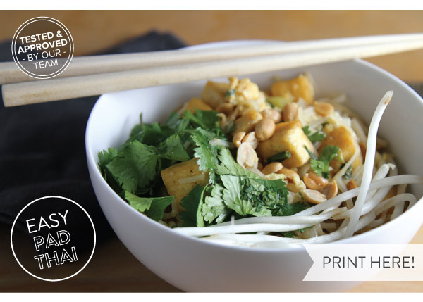 PRINT RECIPE HERE: Easy Pad Thai