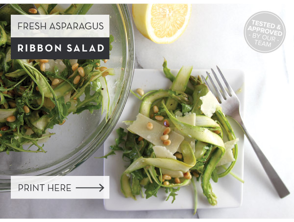 RECIPE: Fresh Asparagus Ribbon Salad