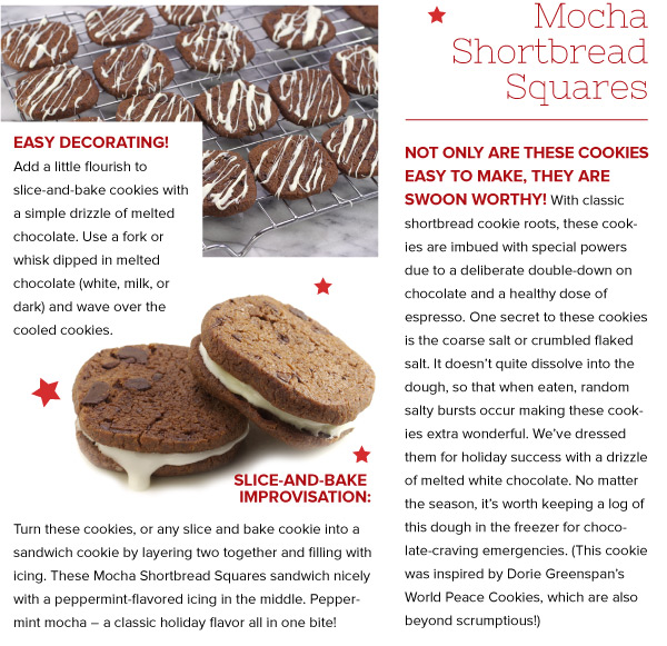 RECIPE: Mocha Shortbread Squares