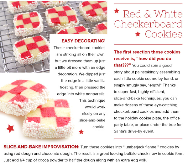 RECIPE: Red and White Checkerboard Cookies