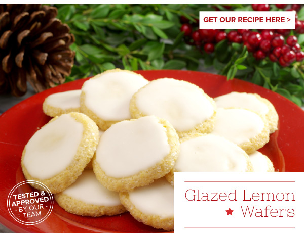 RECIPE: Glazed Lemon Wafers