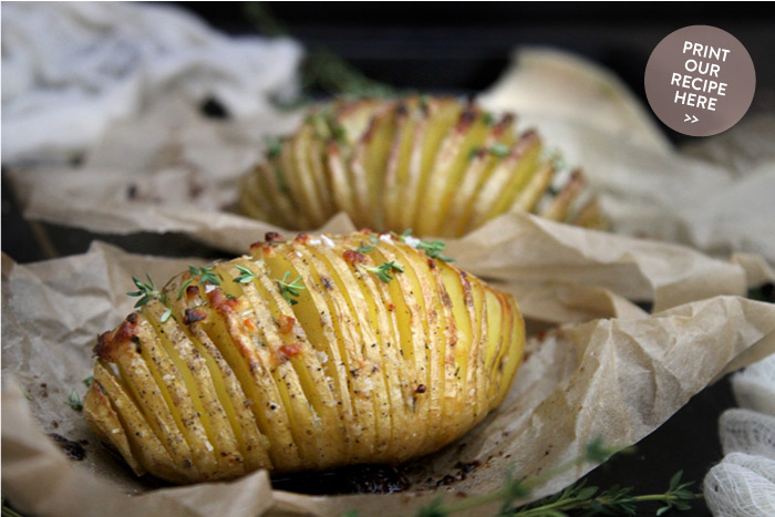 Parmesan and Thyme Hasselback Potatoes