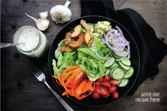 Creamy, Roasted Garlic Dressing