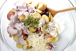 Mix all ingredients in a large bowl