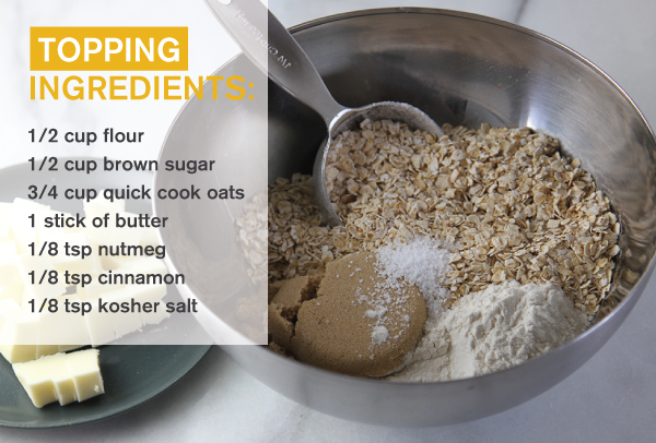 Crisp topping ingredients