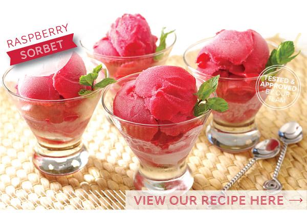 RECIPE: Raspberry Sorbet