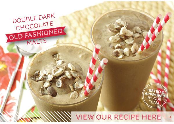 RECIPE: Double Dark Chocolate Old Fashioned Malts