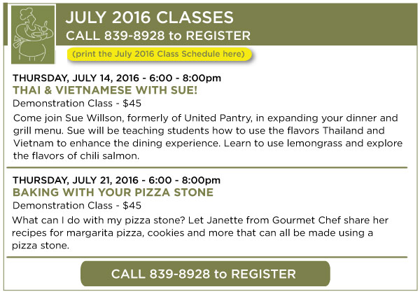 July Classes