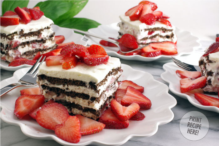 Strawberry Chocolate Icebox Cake