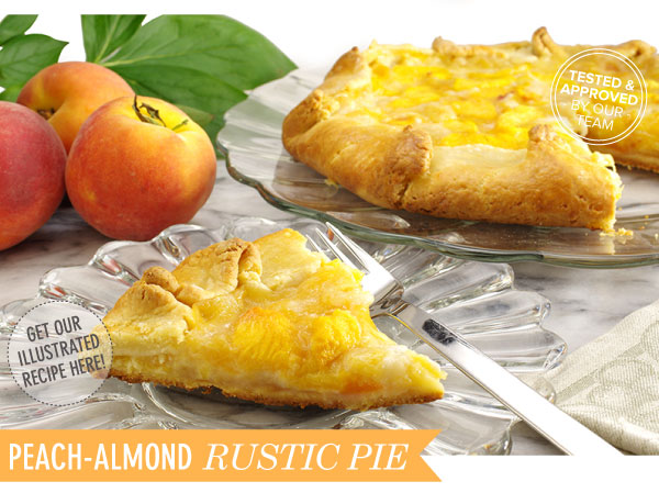 RECIPE: Peach-Almond Rustic Pie