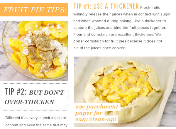 Fresh Fruit Pie Tips