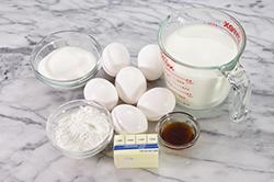 Ingredients - Pastry Cream