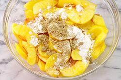 Sliced Peaches with Sugar