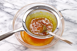 Straining Apricot Preserves