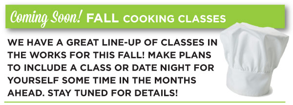 Fall Classes Coming Soon_