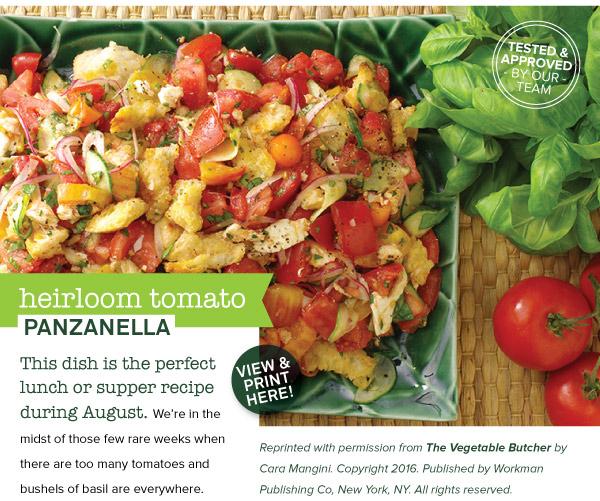 RECIPE: Heirloom Tomato Panzanella