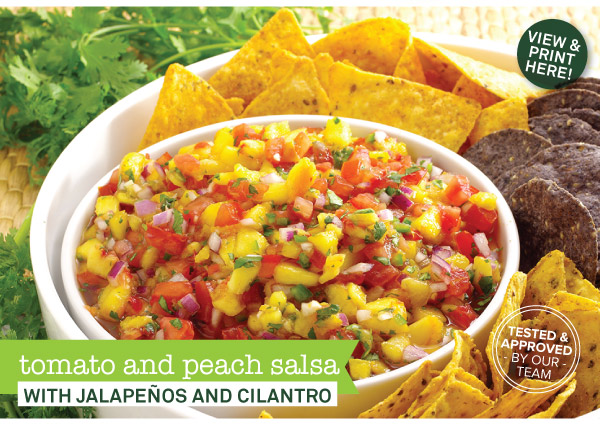 RECIPE: Tomato and Peach Salsa with Jalapenos and Cilantro