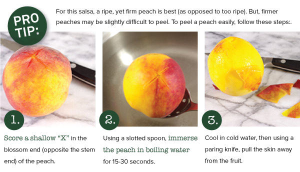 Blanching and Peeling Peaches