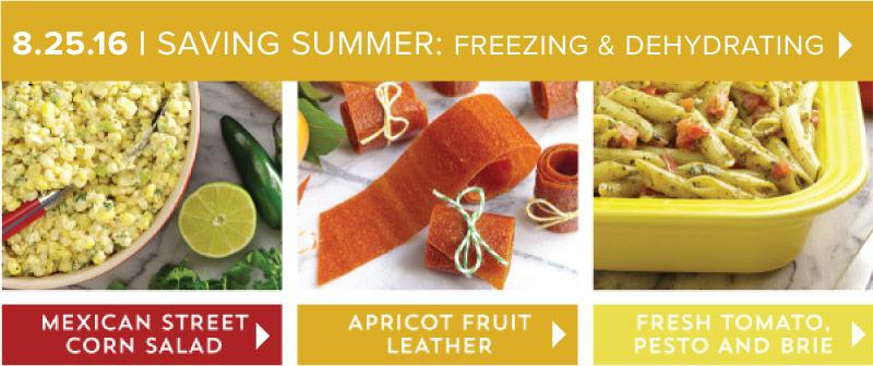 Saving Summer: Freezing and Dehydrating