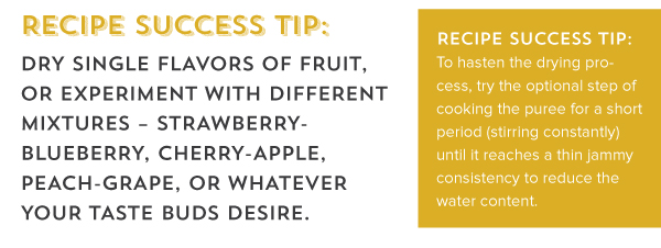 Recipe Success Tip