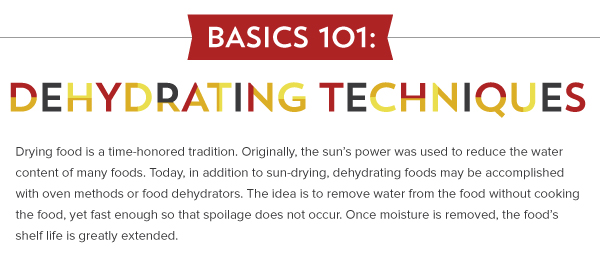Basic 101: Dehydrating Techniques