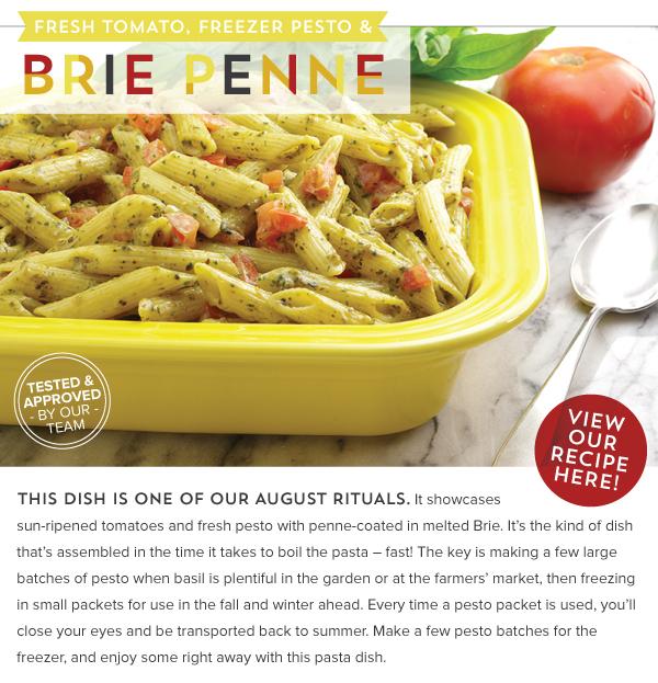 RECIPE: Fresh Tomato, Freezer Pesto and Brie Penne