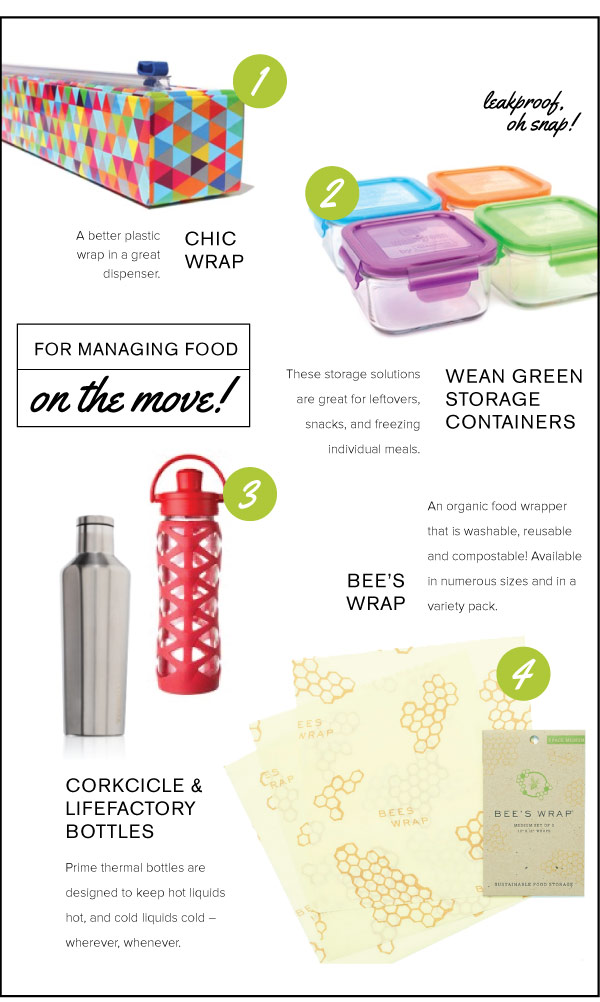 For Managing Food on the Move