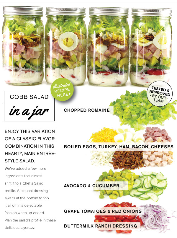 RECIPE: Cobb Salad in a Jar