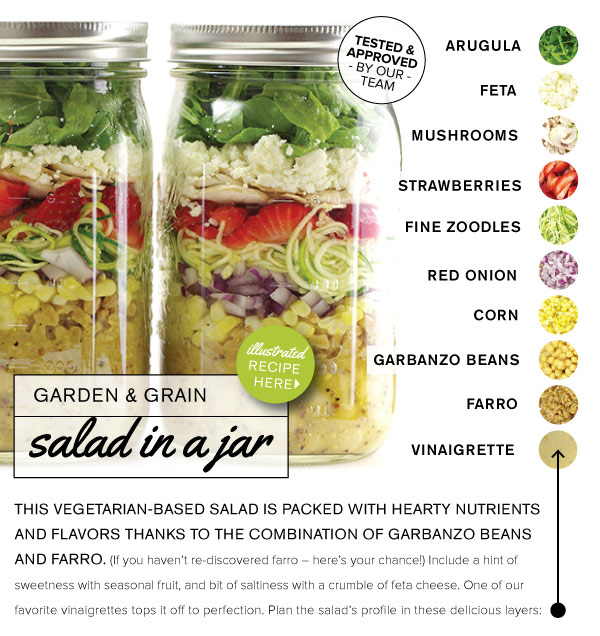 RECIPE: Garden and Grain Salad in a Jar