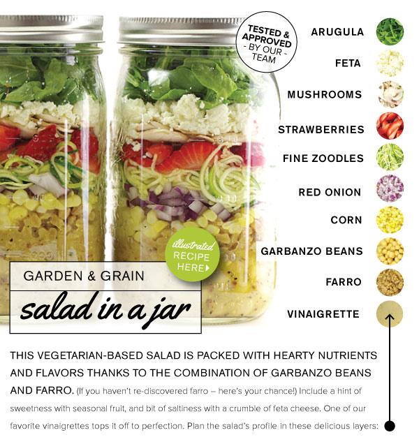 RECIPE: Garden and Grain Salad in a Jar
