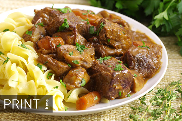 Slow-Cooked Beef Bourguignon
