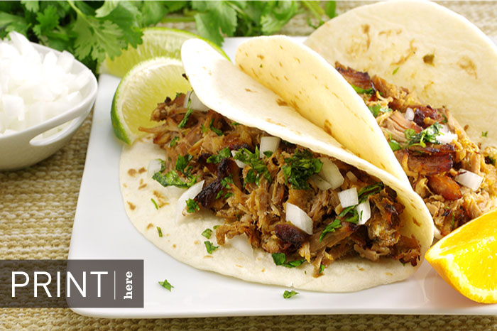 Soft Tacos with Slow-Cooker Pork Carnitas