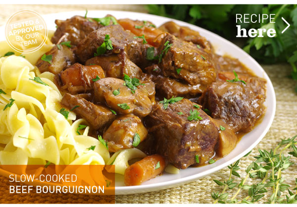 RECIPE: Slow-Cooked Beef Bourguignon