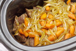 Onions, Carrots in Slow Cooker