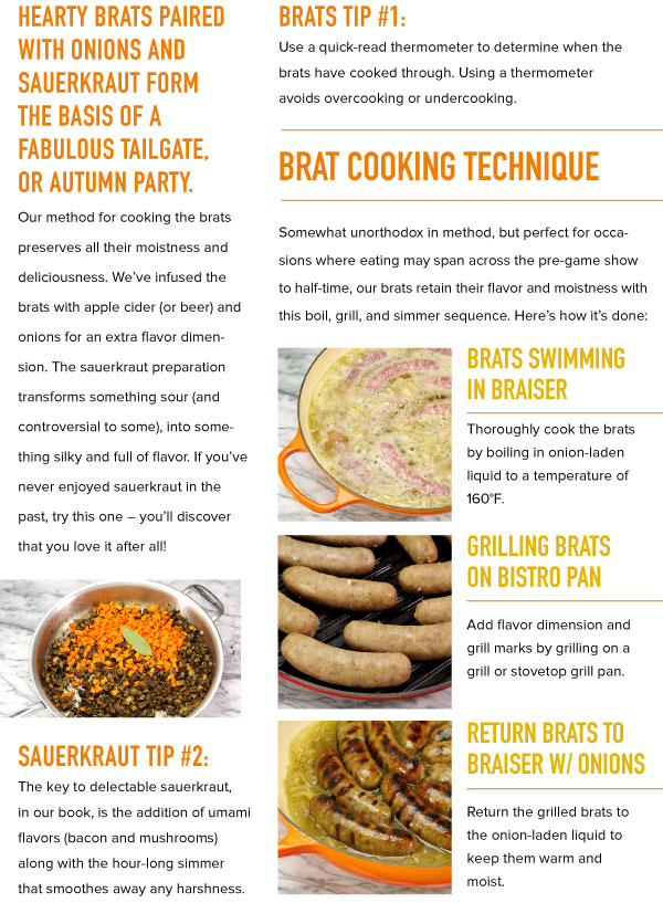 Brat Cooking Technique
