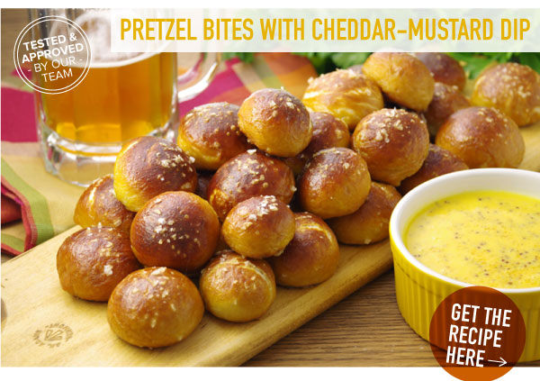 RECIPE: Pretzel Bites with Cheddar-Mustard Dip