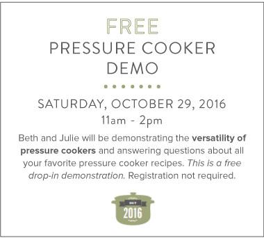 Pressure Cooker Class
