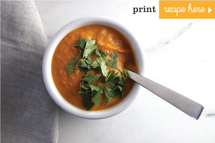 Curried Sweet Potato Ginger Soup