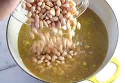 Adding white beans