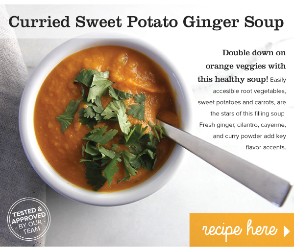 RECIPE: Curried Sweet Potato Ginger Soup