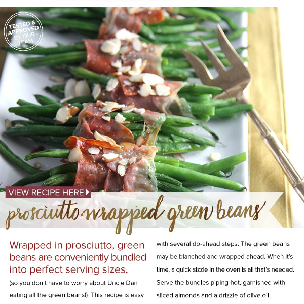 RECIPE: Prosciutto-Wrapped Green Beans