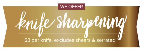 We Offer Knife Sharpening